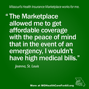 Missouri's Health Insurance Marketplace works for me.